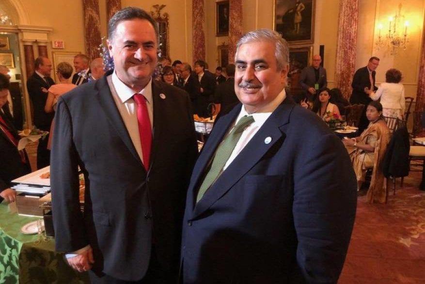 The Bahraini Foreign Minister Khalid Bin Ahmed Al Khalifa meets with his Israeli counterpart Yisrael Katz in Washington, US, on 17 July 2019