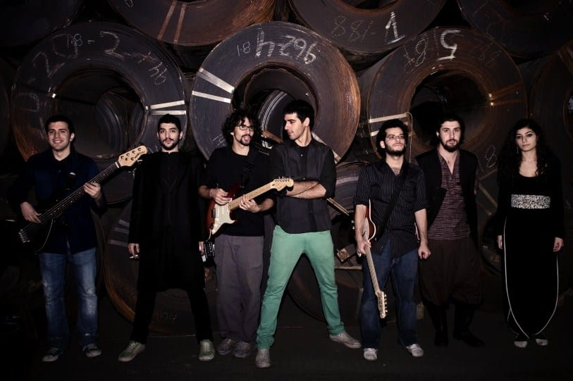 Mashrou Leila during their album release concert in december 2009. [Wikipedia]