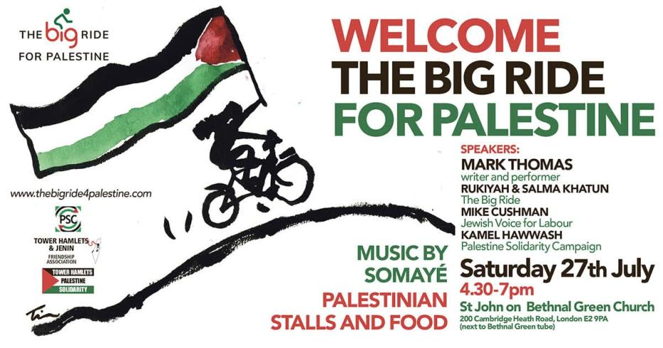 The Big Ride for Palestine event