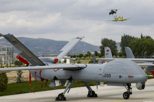 Turkish UAV - ATAK, HURKUS and ANKA, designed and upgraded by Turkish Aerospace Industries, perform during Malaysian Prime Minister Mahathir Mohamad's visit to Ankara, Turkey on July 25, 2019 [Erçin Top / Anadolu Agency]