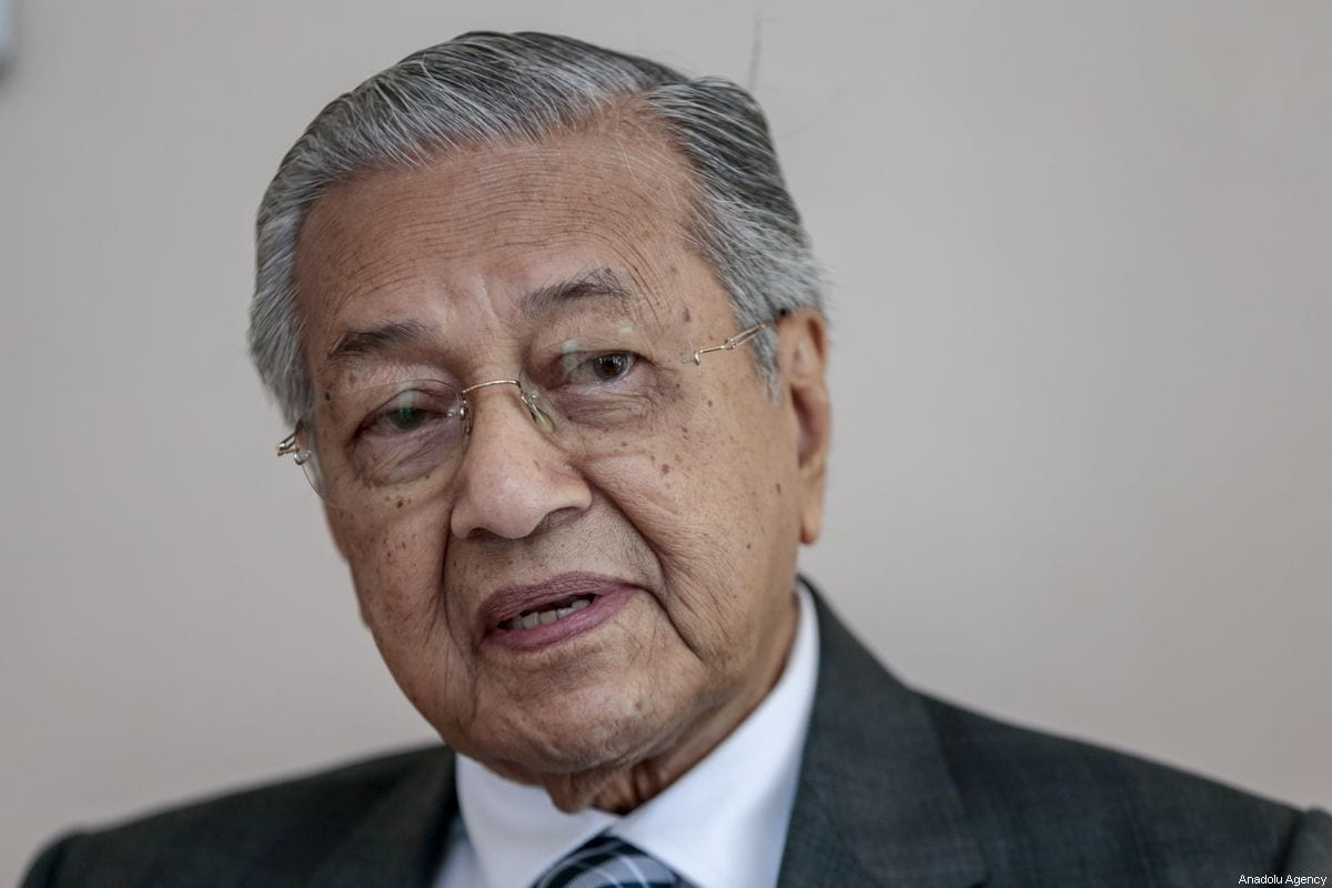 Malaysian Prime Minister Mahathir Mohamad seen during an exclusive interview in Ankara, Turkey on July 26, 2019 [Metin Aktas / Anadolu Agency]