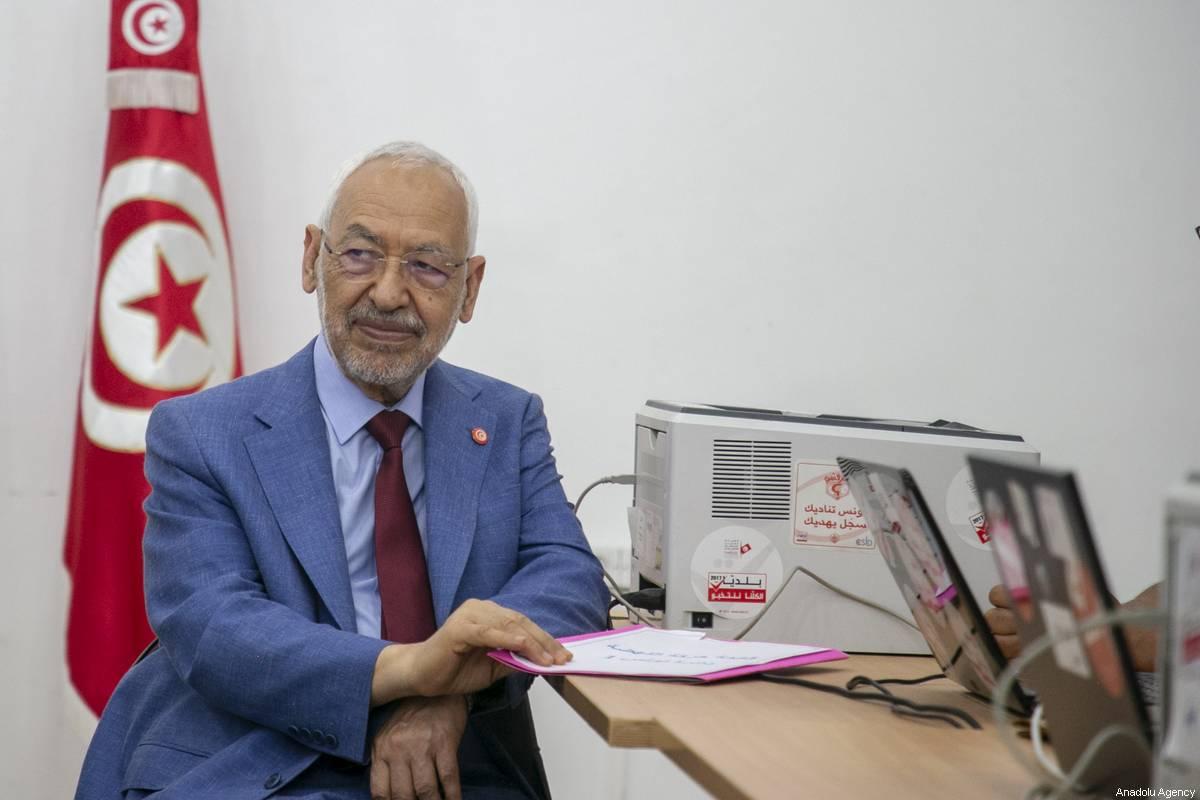 Leader of the En-Nahda Movement Rached Ghannouchi in Tunis, Tunisia 29 July 2019 [Yassine Gaidi/Anadolu Agency]