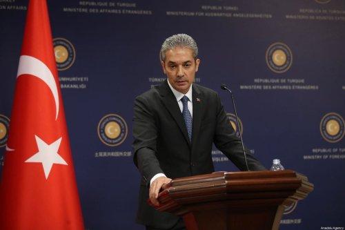 Turkish Foreign Ministry Spokesman Hami Aksoy in Ankara, Turkey on August 02, 2019 [Fatih Aktaş/Anadolu Agency]