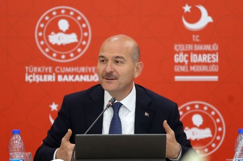 Turkish Interior Minister Suleyman Soylu in Ankara, Turkey on 2 August 2019 [Barış Oral/Anadolu Agency]