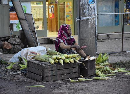 Ethiopian women in markets and countrysides of capital Addis Ababa, contribute their family budgets with various jobs. They attract attention with their roles in social life. August 2019 [Fikret Kavğalı/Anadolu Agency]