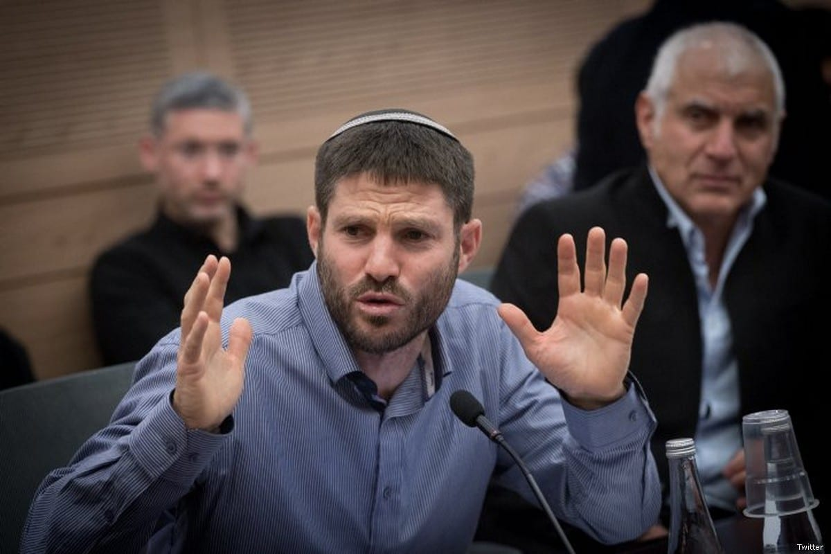 Israeli minister Bezalel Smotrich