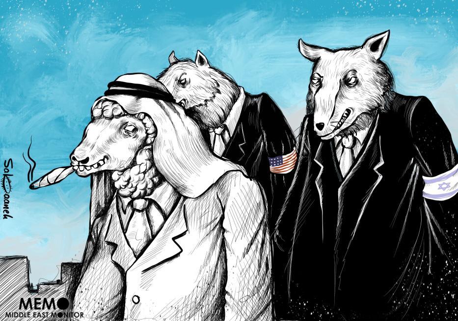 Should Saudi Arabia be watching its back? - Cartoon [Sabaaneh/MiddleEastMonitor]