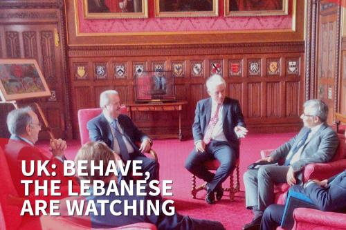 Thumbnail; - UK parliament speaker to MPs: You're embarrassing us in front of the Lebanese