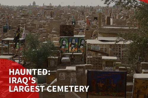 Thumbnail - Haunted: Gravediggers 'attacked by spirits' at Iraq's largest cemetery