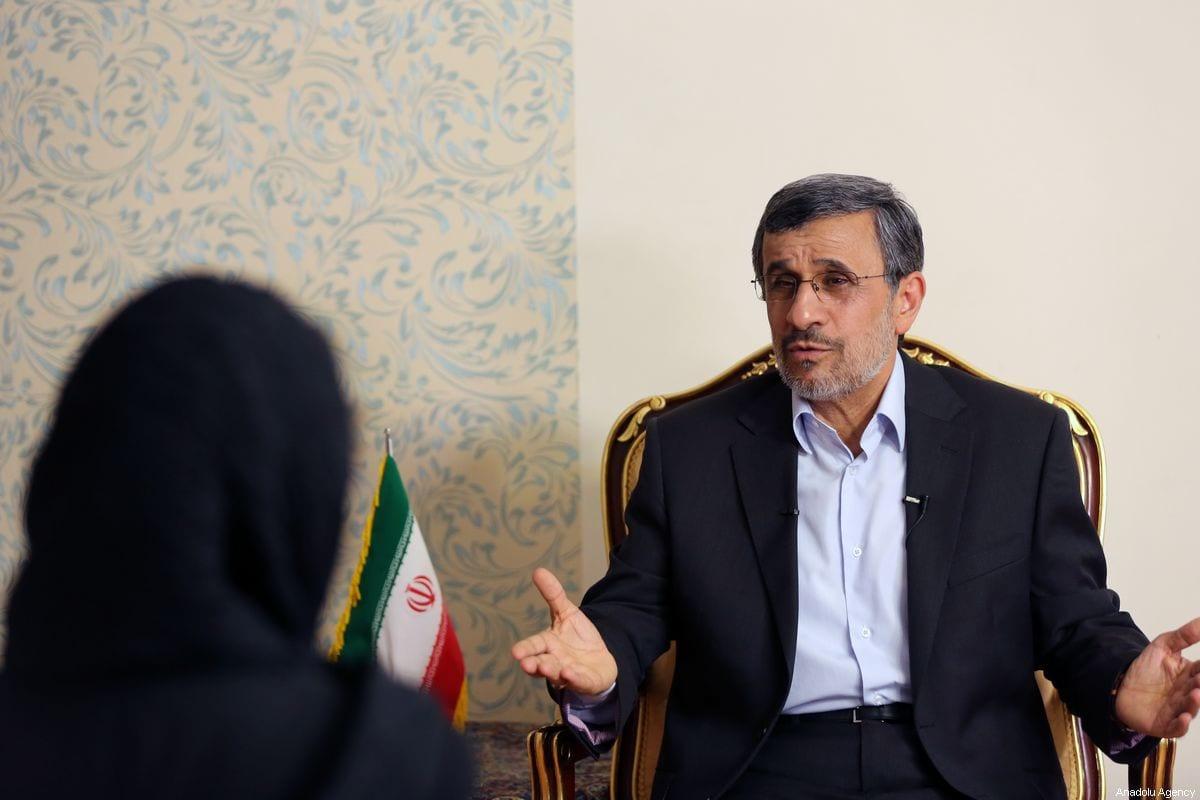 Former President of Iran Mahmoud Ahmadinejad speaks during an exclusive interview in Tehran, Iran on September 3, 2019 [Fatemeh Bahrami/Anadolu Agency]