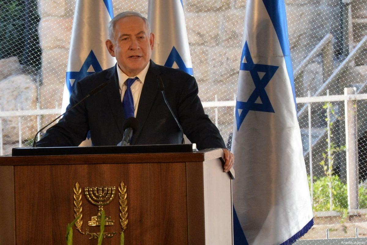 Israeli Prime Minister Benjamin Netanyahu in the West Bank town of Hebron, on 4 September 2019 [Kobi Gideon/GPO/Anadolu Agency]