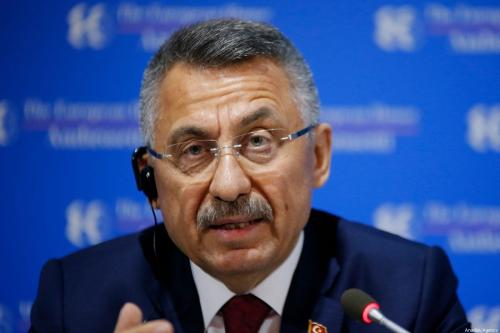 Turkish Vice President Fuat Oktay in Cernobbia, Italy on 6 September 2019 [Muhammet Fatih Oğraş/Anadolu Agency]