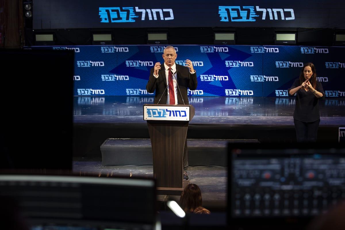 Leader of the Blue and White political alliance, former chief of staff of the Israeli army, Benny Gantz in Tel Aviv, 15 September 2019 [Faiz Abu Rmeleh/Anadolu Agency]
