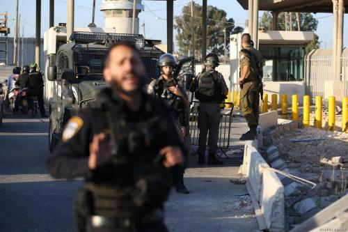 Israeli forces shoot Palestinian woman at checkpoint this morning