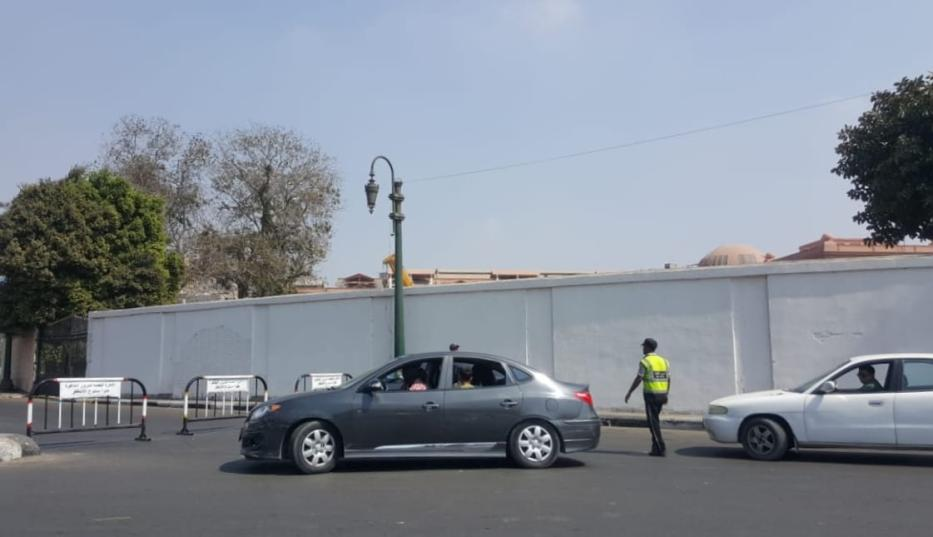 Roads to Tahrir Square are being blocked by Security forces to prevent Anti-government protests in Cairo, Egypt on 27 September 2019.  [Stringer - Anadolu Agency]