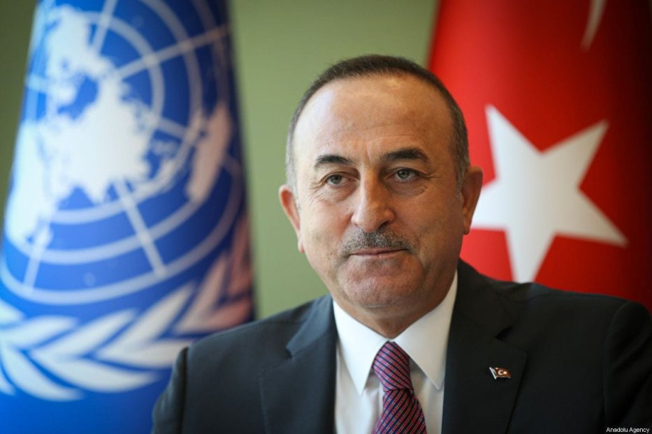 Turkish Foreign Minister Mevlut Cavusoglu in New York, Us on 27 September 2019 [Cem Özdel/Anadolu Agency