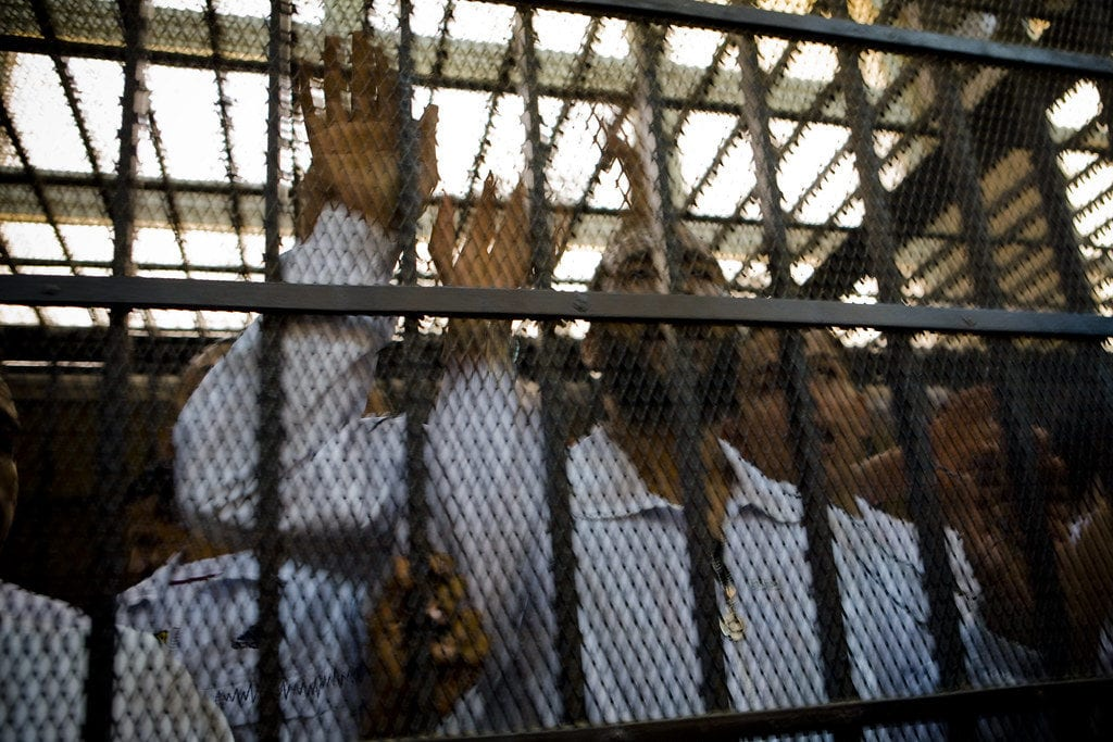 Prisoners in Mahalla, Egypt [Hossam el-Hamalawy - Flickr]