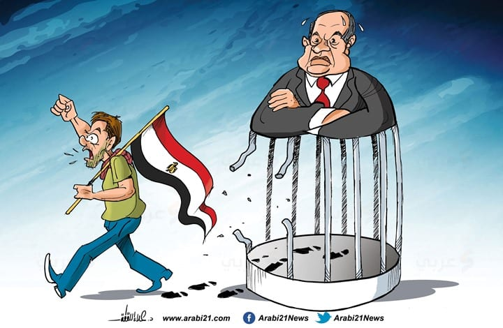 Egypt's protests against Sisi [Cartoon-Arabi21]