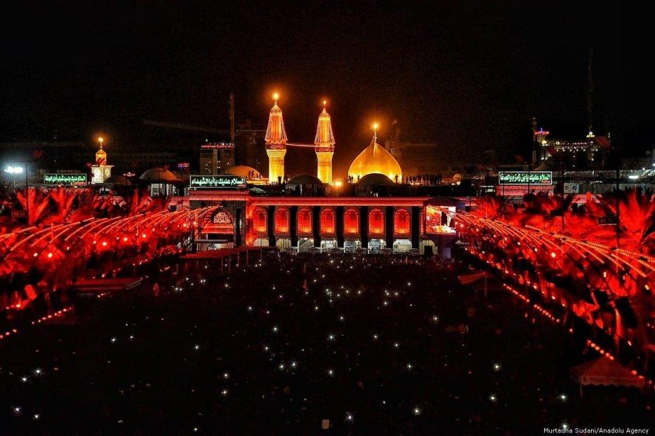Hundreds of thousands of Iraqi Shia Muslims mark Ashura, the anniversary of the martyrdom of Imam Hussein, in Iraq's southern city of Karbala on 9 September 2019 [Murtadha Sudani/Anadolu Agency]