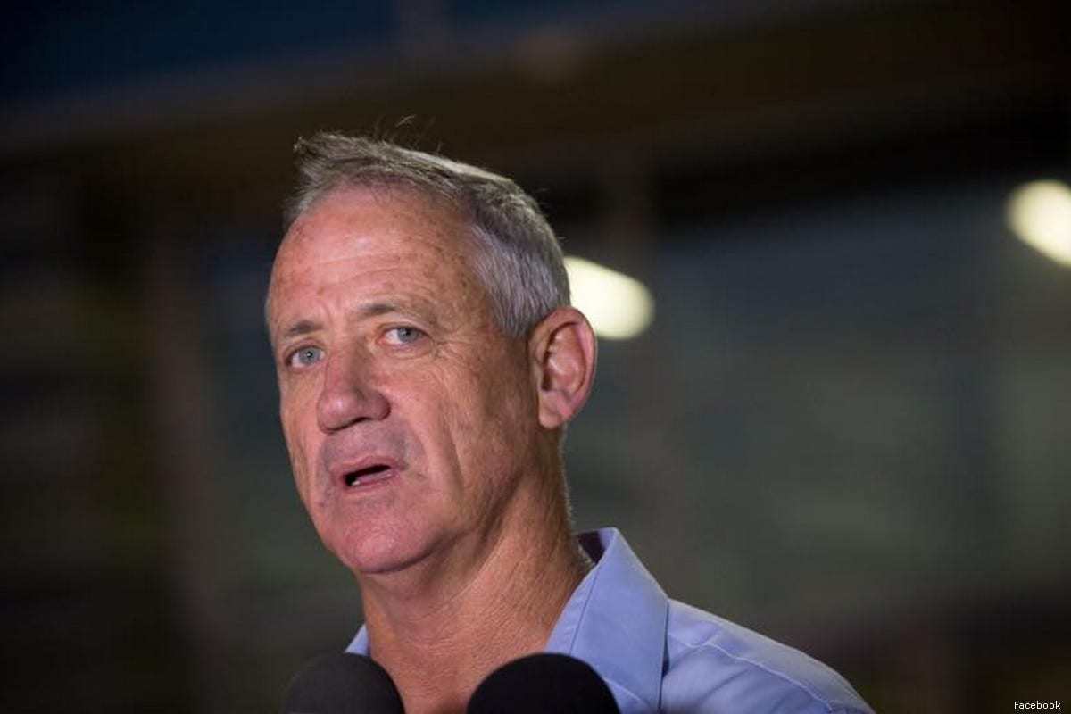 Benny Gantz, leader of Israel's largest opposition party Blue and White (Kahol Lavan)