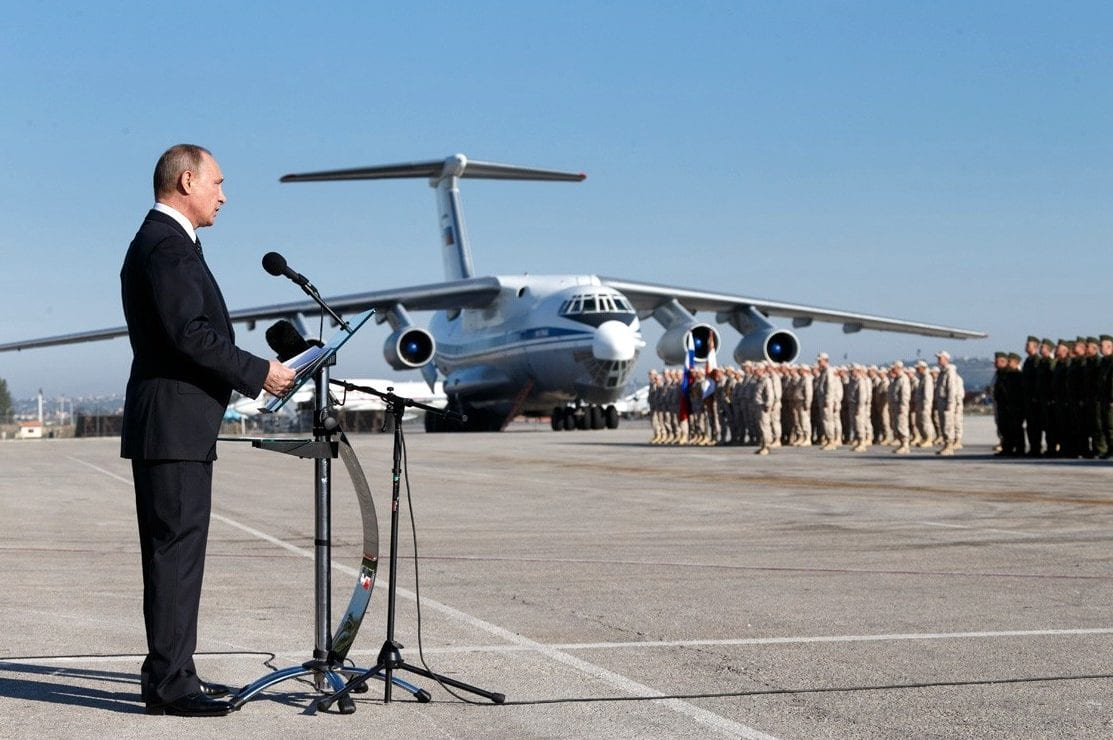 Vladimir Putin visits Khmeimim Air Base in Syria on 11 September 2017 [Kremlin.ru]