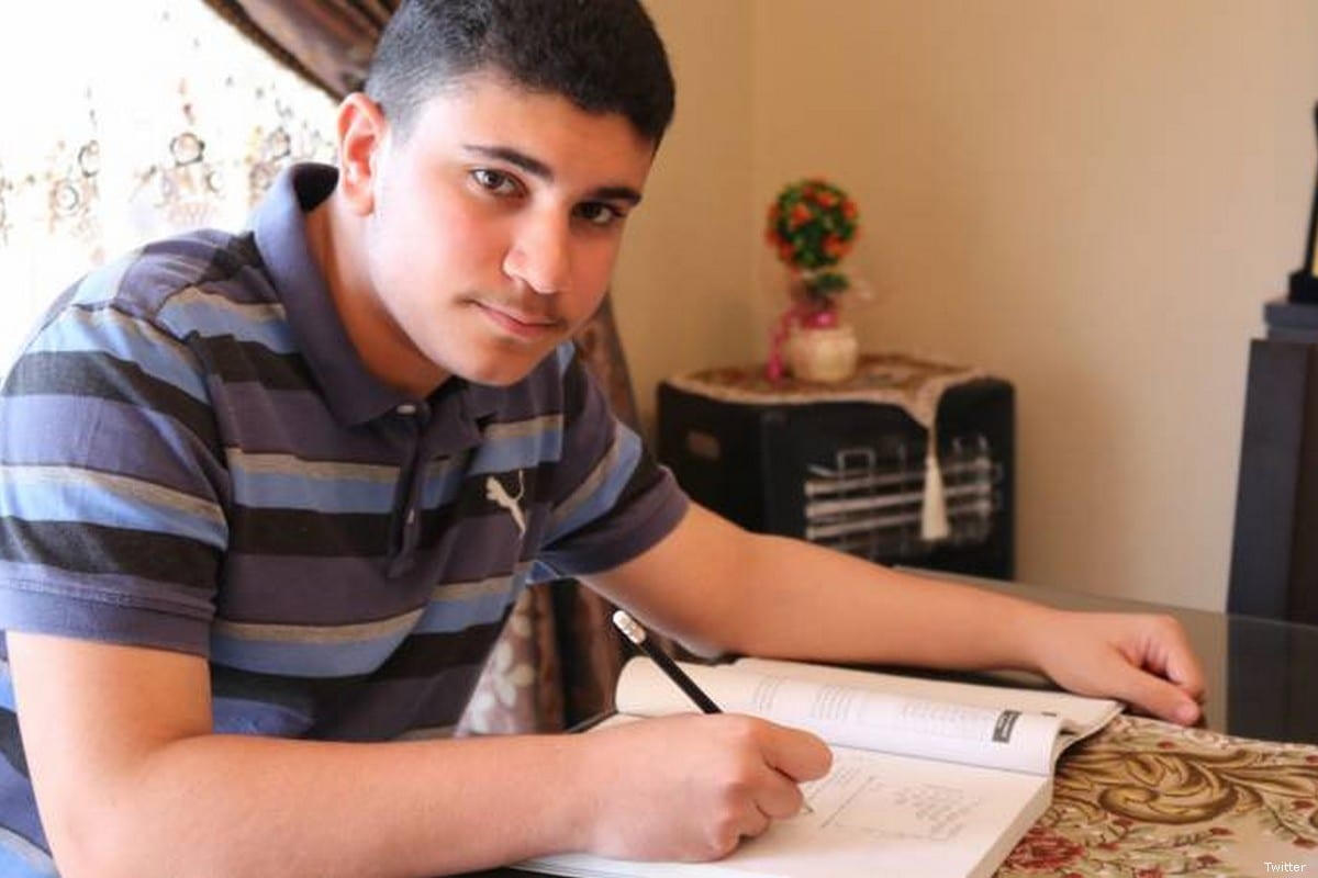 Seventeen-year-old Palestinian student from Lebanon, Ismail Ajjawi [Twitter]
