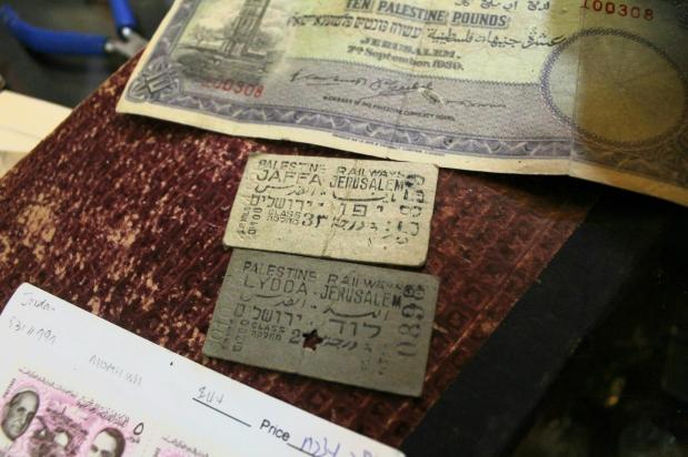 Two old train tickets revealing a Palestine railway existed before the Israeli military occupation