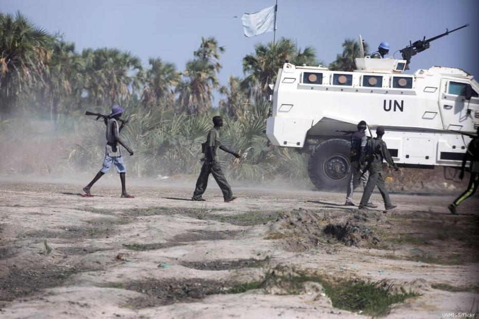 UN forces seen in South Sudan on 1 May 2018 [UNMISS/Flickr]