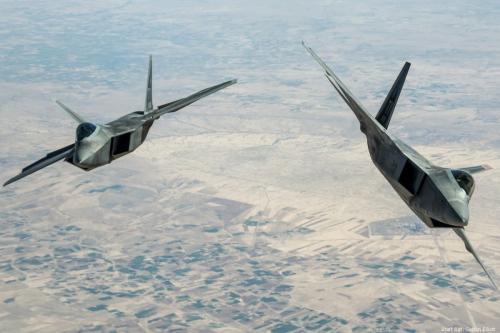 War planes fly above Syria on 25 March 2018 [Staff Sgt. Colton Elliott]