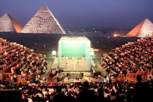 Squash Played at the Pyramids of Egypt [Wikipedia]