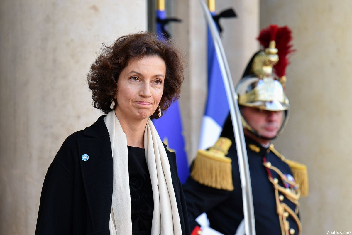President of UNESCO, Audrey Azoulay leaves the Elysee Palace after the tribute for former French President Jacques Chirac, at the Elysee Palace in Paris, France, on September, 30 2019 [Julien Mattia / Anadolu Agency]