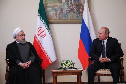 Iranian President Hassan Rouhani (L) meets with Russian President Vladimir Putin (R) in Yerevan, Iran on 1 October 2019. [Iranian Presidency / Handout - Anadolu Agency]