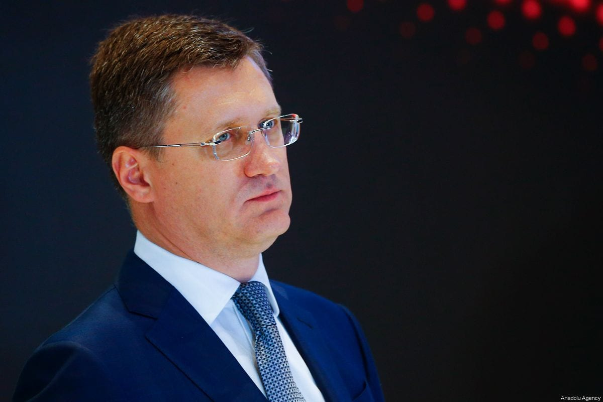 Russian Energy Minister Alexander Novak in Moscow, Russia on 2 October 2019 [Sefa Karacan/Anadolu Agency]