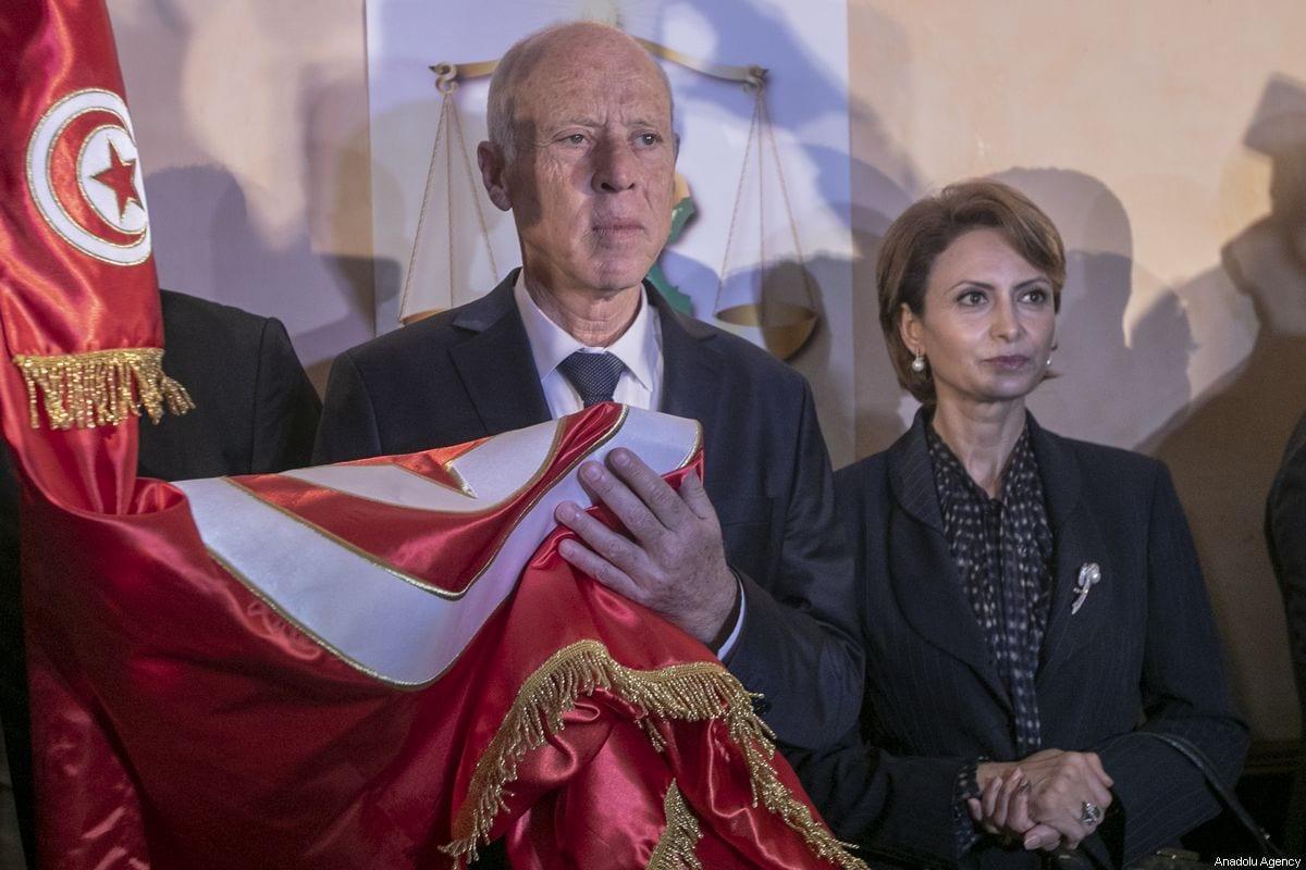 Tunisia's President Kais Saied in Tunis, Tunisia on 13 October 2019 [Yassine Gaidi/Anadolu Agency]