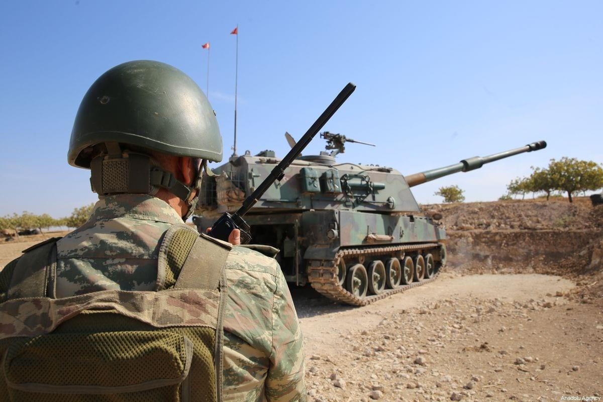 Members of Turkish Armed Forces (TSK) in Turkey's Operation Peace Spring in Syria on 15 October 2019 [Behçet Alkan/Anadolu Agency]