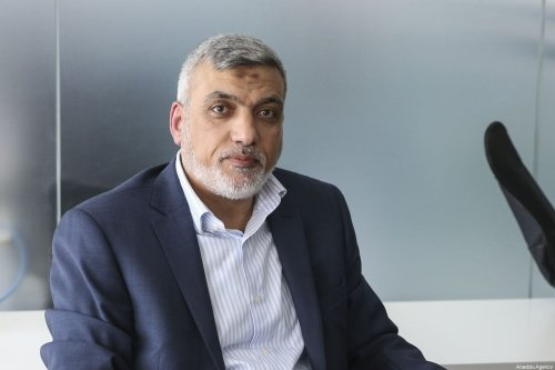 Senior Hamas leader Izzat al-Rishq speaks during an exclusive interview in Ankara, Turkey on October 18, 2019. The presence of terror groups along Turkey's borders serves to promote Israel's interests, said a senior Hamas leader. [Muhammed Selim Korkutata - Anadolu Agency]