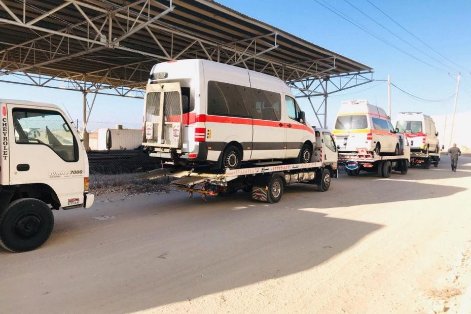 Aid convoy of medical equipment arrives in Gaza delivered by Miles of Smiles