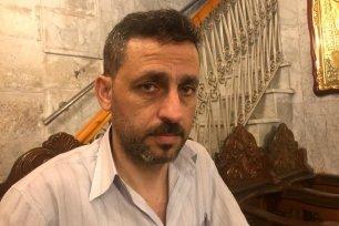 Kamel Ayyad, part of a Hamas delegation, visit Catholic Church