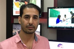 Samer Tarazi, part of a Hamas delegation, visits a Catholic Church