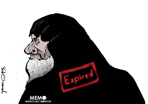 Daesh leader Abu Bakr Baghdadi killed himself during a US military operation in Syria - Cartoon [Sabaaneh/MiddleEastMonitor]