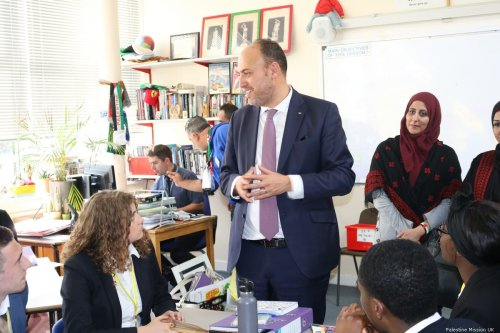 Palestinian Ambassador to the UK, Husam Zomlot [Palestine Mission UK ]
