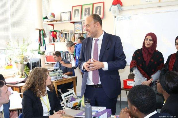 Palestinian Ambassador to the UK, Husam Zomlot [Palestine Mission UK ]
