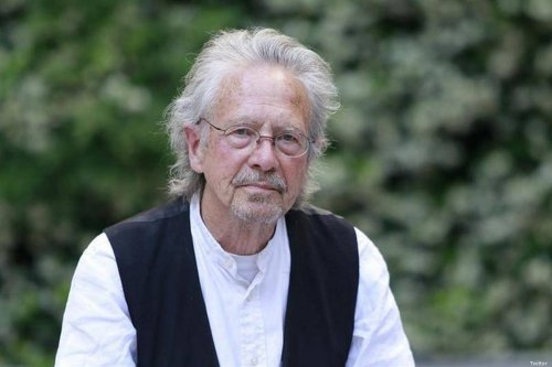 Austrian playwright Peter Handke and winner of Nobel Prize for Literature 2019 [Twitter]