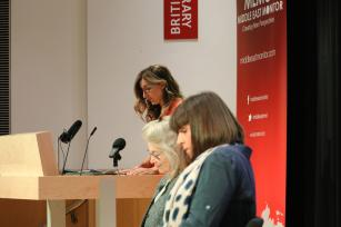 Panel discussion with Sarah Leah Whitson and Sue Turton and Victoria Brittain as chair at MEMO event: Remembering Jamal one year on, on 2 October, 2019 [Middle East Monitor]