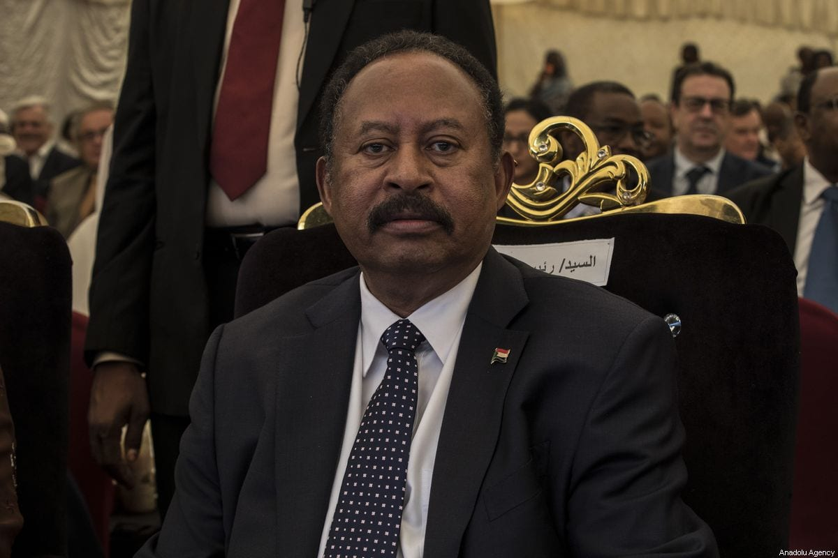 Sudanese Prime Minister Abdalla Hamdok in Sudan on 27 October 2019 [Mahmoud Hjaj/Anadolu Agency]
