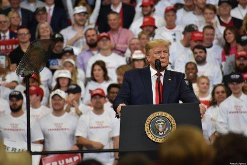 US President Donald Trump in Unite on 4 November 2019 [Kyle Mazza/Anadolu Agency