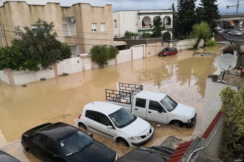 Heavy rain hit Tunisia which caused flooding