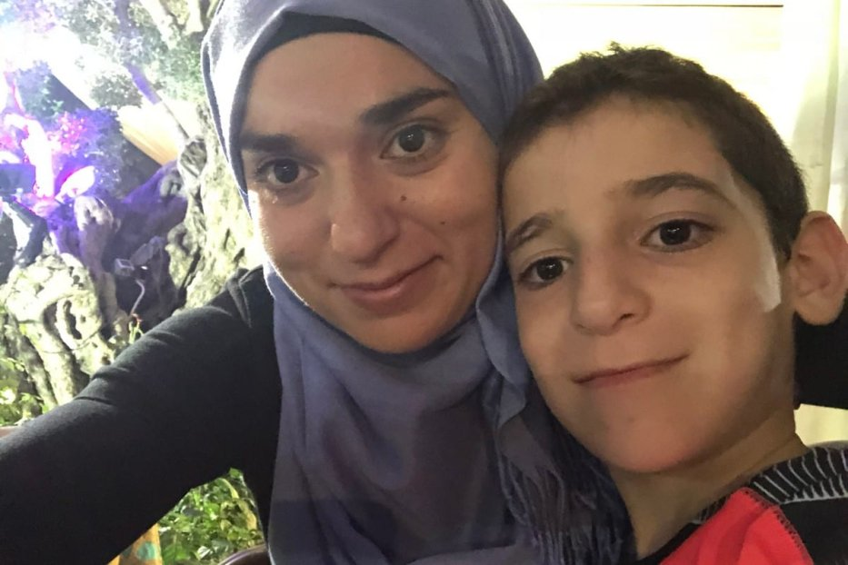 Khawla Khalifa and her son. before he was kidnapped by his father and taken to Lebanon