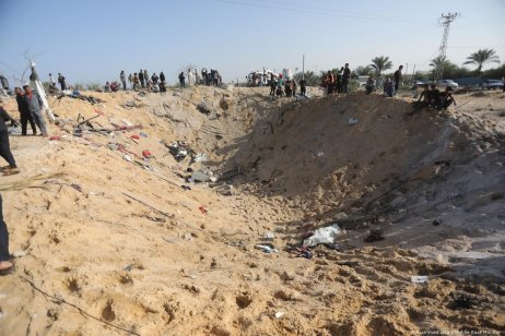 A Palestinian house was destroyed, killing 8 members of same family, after Israel carried out air strikes in Gaza on 14 November 2019