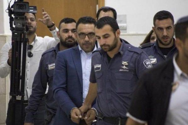 Israeli forces arrest Governor of Jerusalem, Adnan Ghaith in his home in Jerusalem, November 2018 [Twitter]